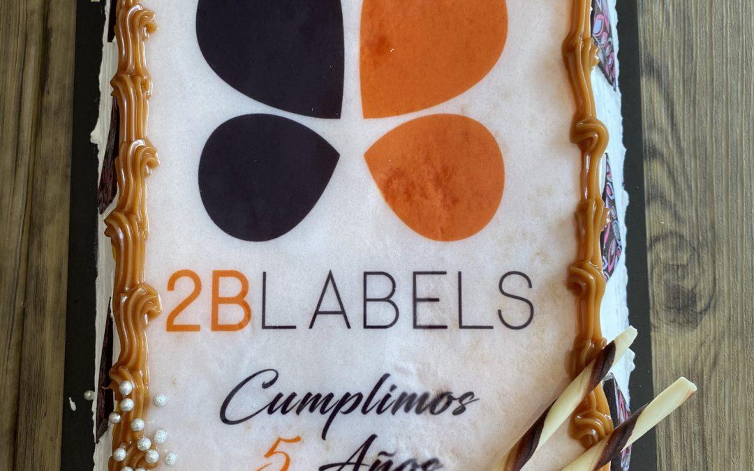 5º aniversario 2B Labels